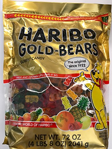 Haribo of America Haribo Gold-Bears Gummi Candy in a Stand-Up Bag, 72 Ounce