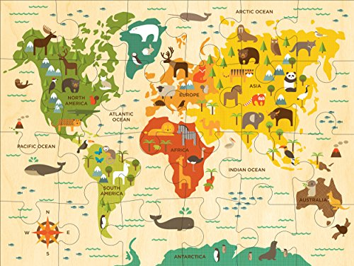 Petit Collage Floor Puzzle, Our World, 24 pieces by Petit Collage (Image #1)