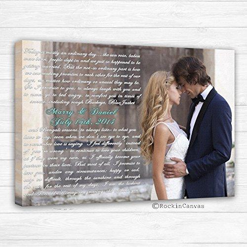First Dance Lyrics/ Wedding Canvas Photo Decor Words Vows lyrics/ Anniversary or Wedding Art by RockinCanvas