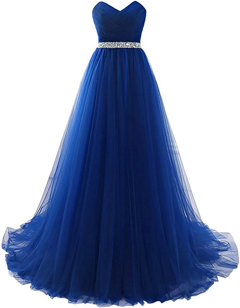 Sweetylife Elegant A-Linie Lang Abendkleider Ballkleider