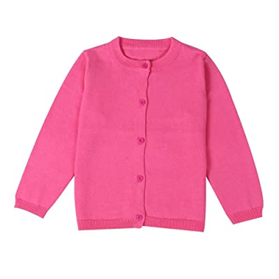 Baby Boys Girls Solid Color Knit Cardigan Button Sweaters Coat
