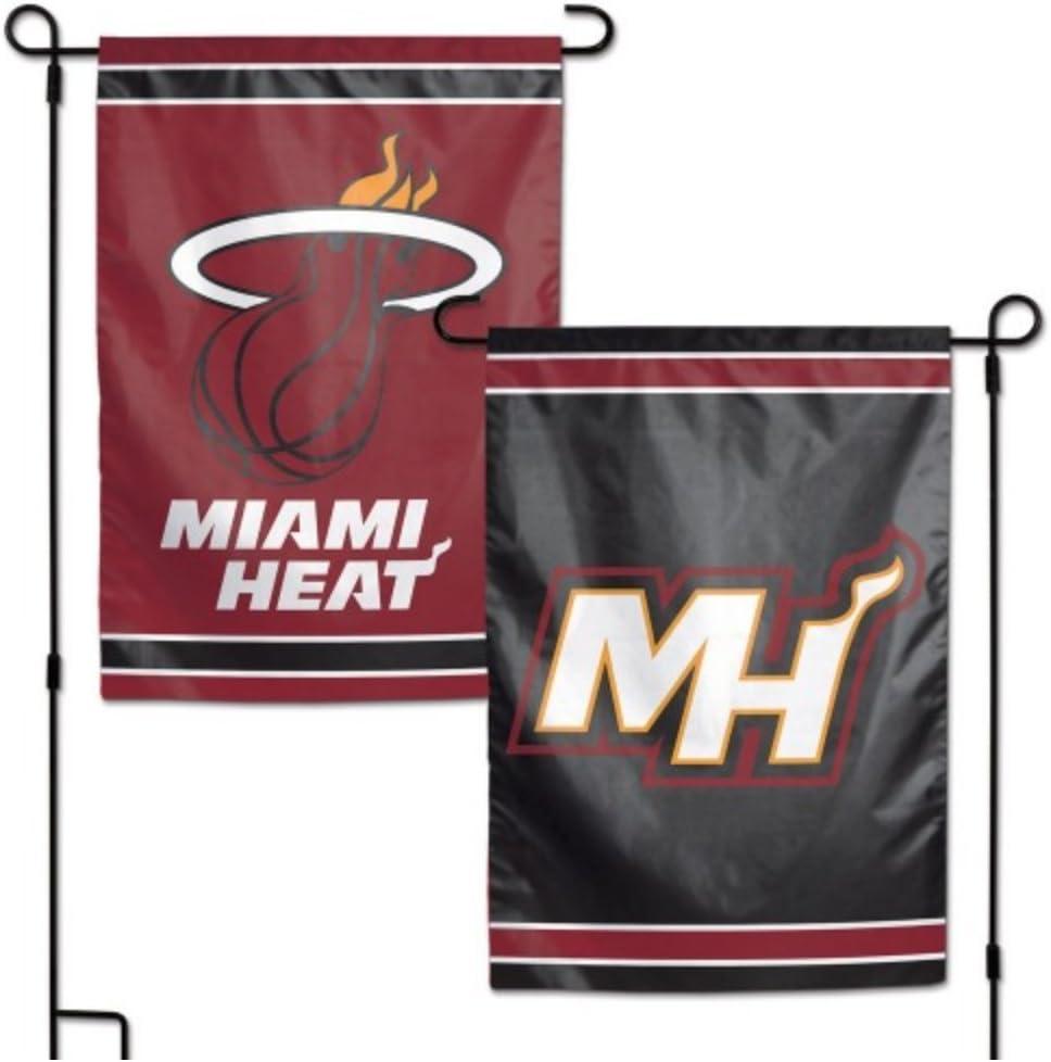 "WinCraft NBA Miami Heat 12.5"" x 18"" Inch 2-Sided Garden Flag Logo"