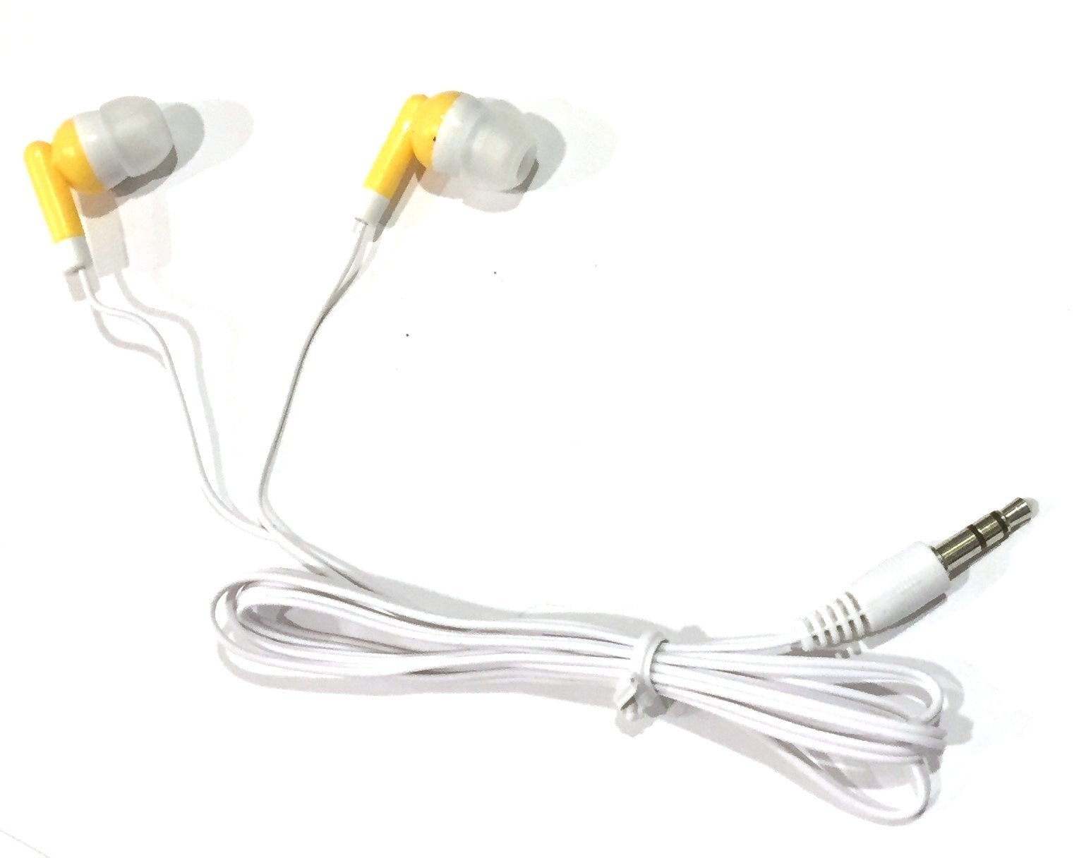 TFD Supplies Wholesale Bulk Earbuds Headphones 100 Pack For Iphone, Android, MP3 Player - Yellow/Gold by TFD Supplies