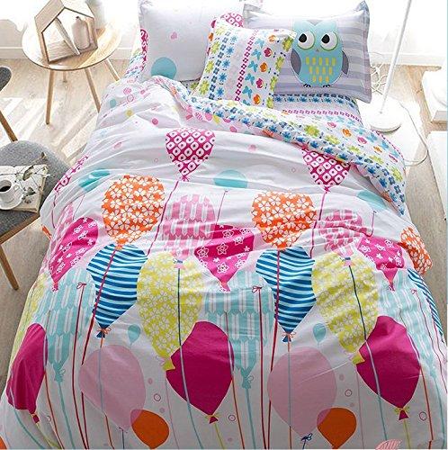 LELVA Cartoon Princess in Bed with a Cotton Jacket, Kids Bedding Girls, Children's Duvet Cover Set, Bedding for (Planes Full Size Bedding Set)