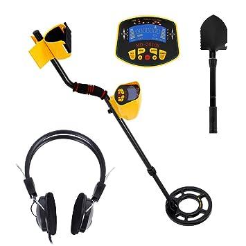 Enjoygoeu Detector de Metales de Tesoros 3 en 1 Alta Sensibilidad con Pantalla LCD Indicador Bobina