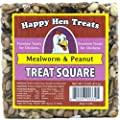 "Happy Hen Treats 7.5 oz. Square-Mealworm and Peanut, 4.25"" by 4.25"" by 1.25"" from Randall Burkey Company"