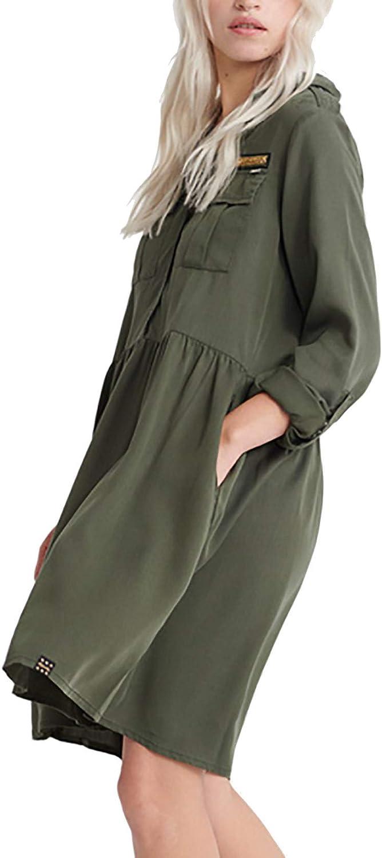 Superdry - Vestido militar para mujer, color caqui: Amazon.es ...