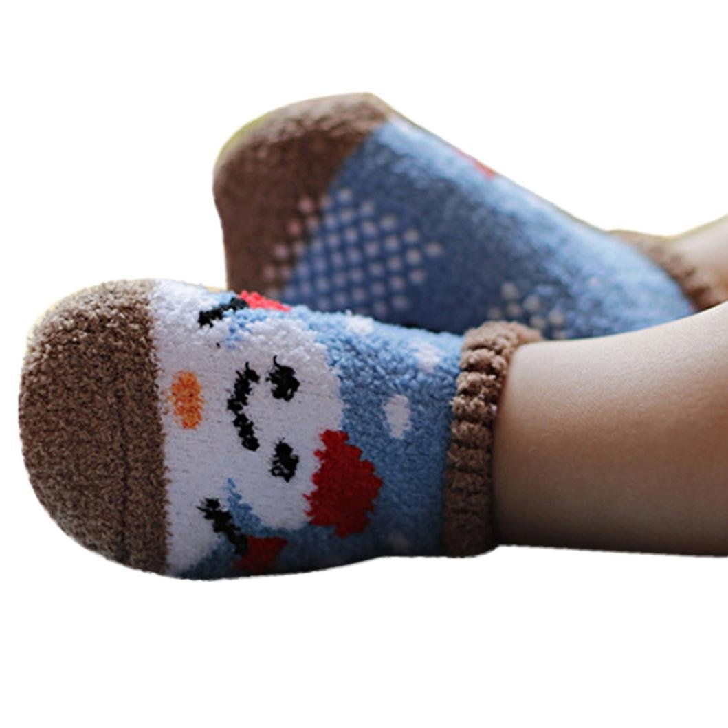 Wensltd 10 Pairs Cute Cartoon Baby Boys Girls Coral Cashmere Low Socks