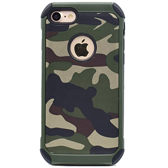 new arrival ff8c4 14632 iPhone 5 5s SE Camo Case, 2 in1 Army Camo Camouflage Pattern Impact Armor  Anti-knock Protective Back Cover Case for Apple iPhone 5/5s/SE (Green)