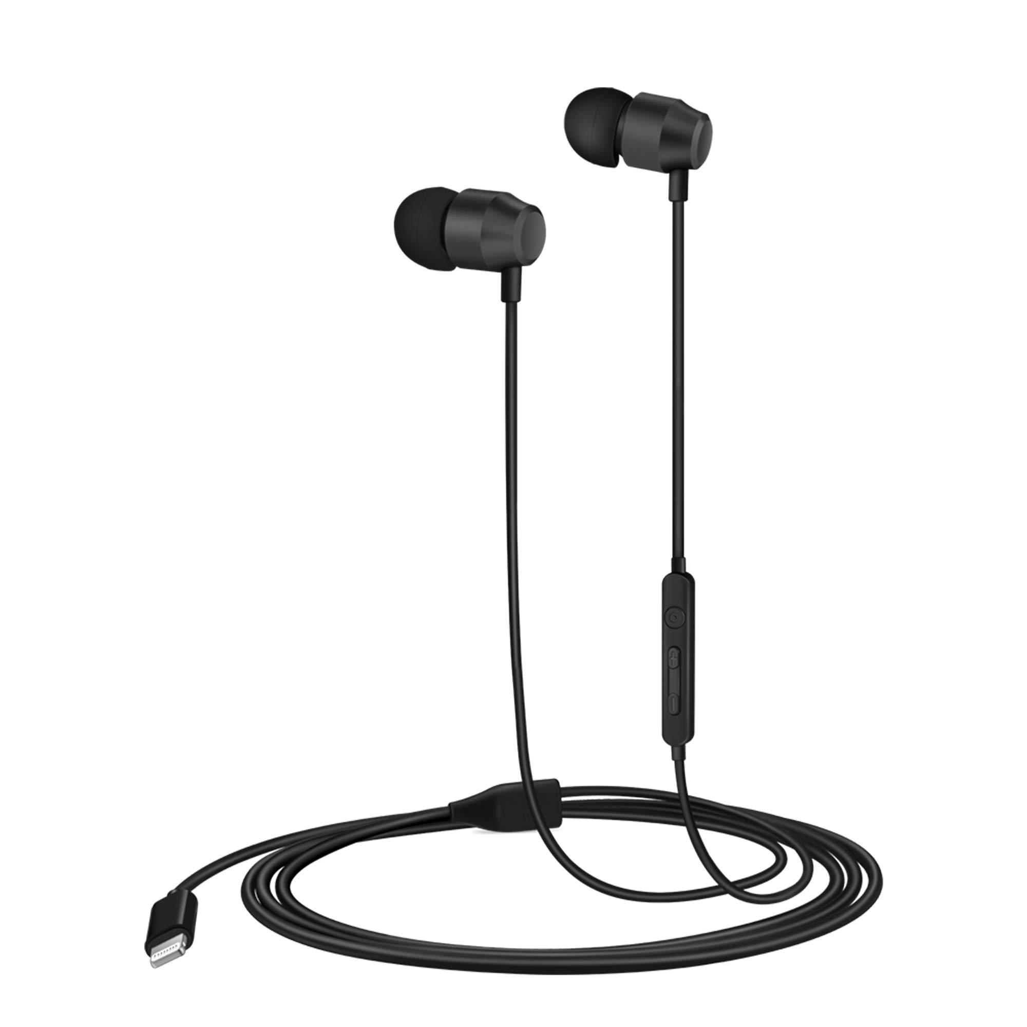 PALOVUE Earflow in-Ear Lightning Headphone Magnetic Earphone MFi Certified Earbuds with Microphone Controller Compatible iPhone X iPhone 8/P iPhone 7/P (Metallic Black) by PALOVUE
