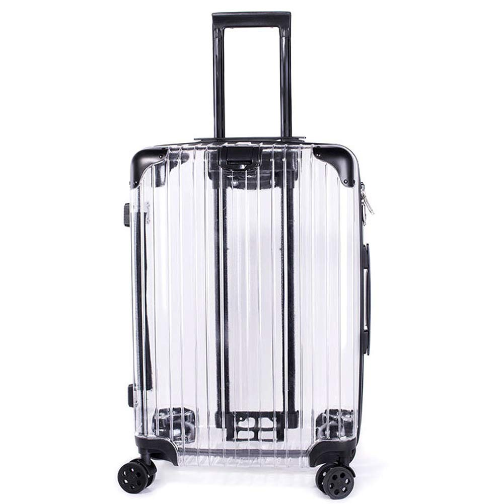 Amazon.com: Transparent Clear Large Capacity Suitcase,Travel Luggage with 4 Silent Wheel and Telescopic Handle 20 inch: Sports & Outdoors