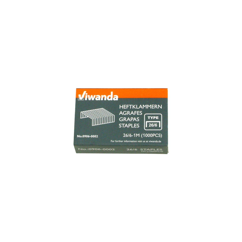 Box mit 1000 St/ück DIN 26//6 mm Viwanda Tackernadeln//Heftklammern