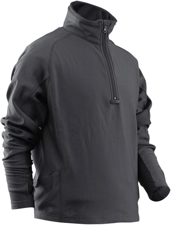 Tru-Spec Mens 24-7 Series Zip Thru Grid Fleece Pullover