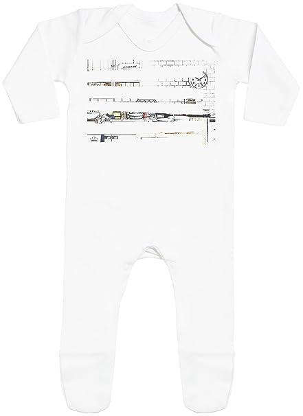 Sketch Print with Feet - peleles para bebé - peleles para bebé niño - peleles para bebé niña: Amazon.es: Ropa y accesorios