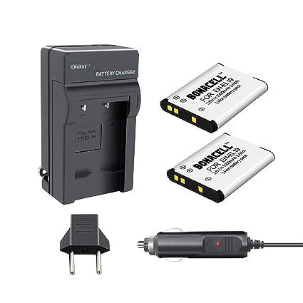 S4100 2X Batería y USB Cargador EN-EL19 para batería Nikon Coolpix S3500 S3600