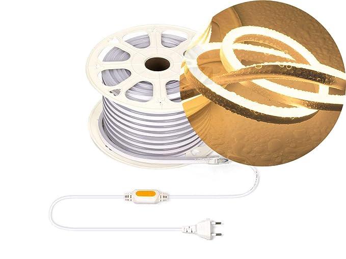 Ogeled - Tira de luces LED de neón (1-50 m, blanco cálido