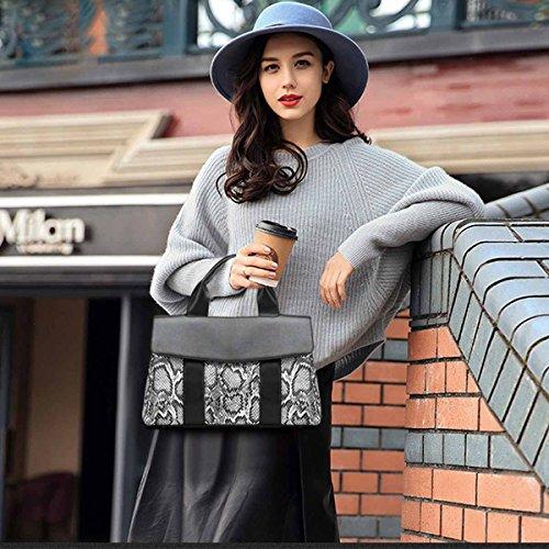 Sac à cuir Sac à Moderne en PU sac DORIS Noir à NICOLE Imprimer Snakeskin Kaki bandoulière amp; Femmes main bandoulière 801q1