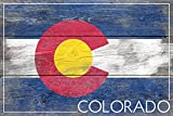 Rustic Colorado State Flag (16×24 SIGNED Print Master Giclee Print w/ Certificate of Authenticity – Wall Decor Travel Poster) Review