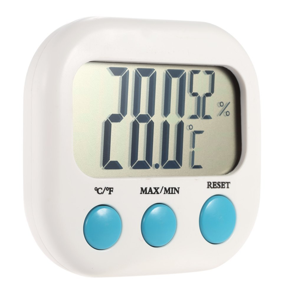 Decdeal Indoor Digital Temperature Humidity Meter Thermometer Hygrometer Maximum Minimum Value Display °C/°F TRTAZ11A