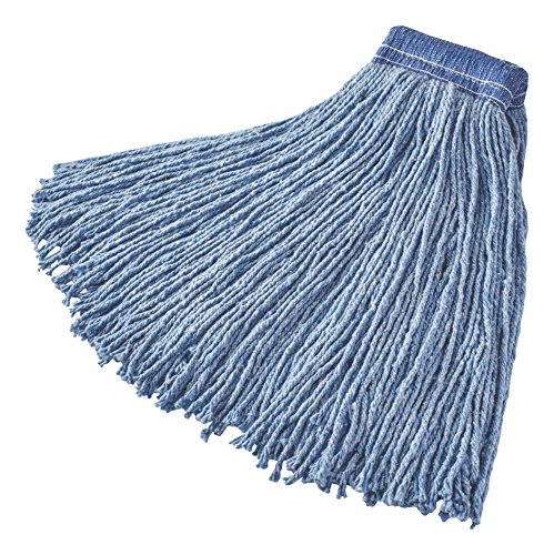 Rubbermaid Commercial Products FGF55900BL00 Premium 8Ply CutEnd Blend Mop 32 oz 5 Blue Headband Pack
