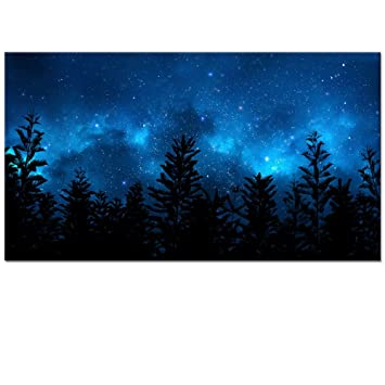 amazon starry night forestキャンバス壁アートプリント風景画像
