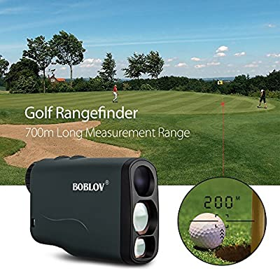 BOBLOV Golf Rangefinder 760Yards Waterproof, 6X Range Finder Hunting Scope Distance Binoculars with Ranging, Scan, Flagpole Lock, Fog and Speed Measurement Function Support USB Wireless Charging by China Oem