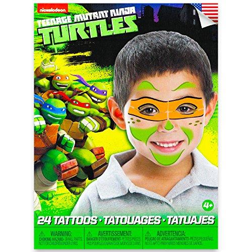 Teenage Mutant Ninja Turtles Michelangelo Face Tattoo]()