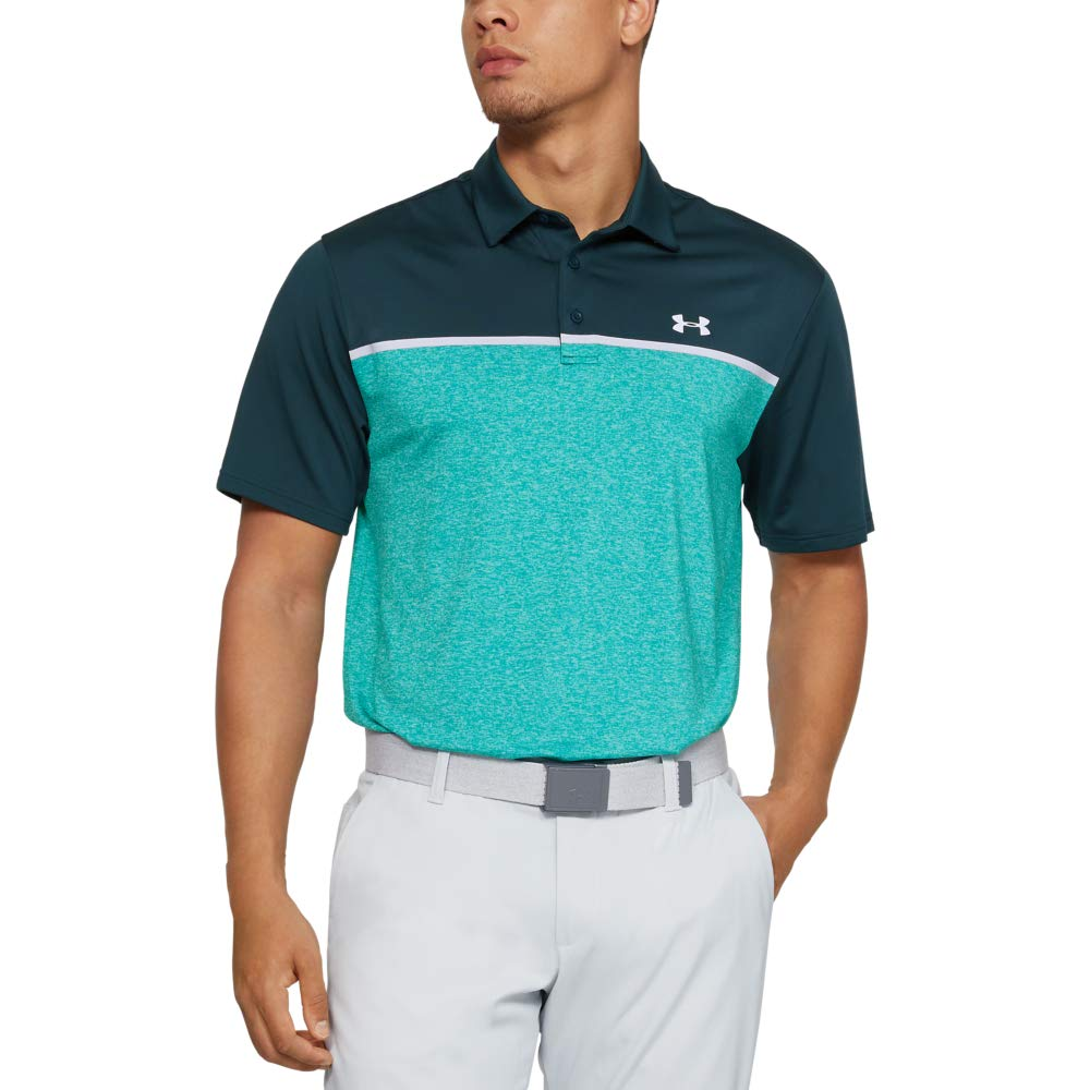 Under Armour Men's Playoff Golf Polo 2.0, Tandem Teal/White, Small by Under Armour
