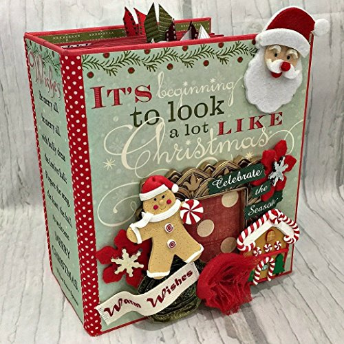 IT'S BEGINNING TO LOOK ALOT LIKE CHRISTMAS Chipboard Scrapbook Scrapbooking Mini Album