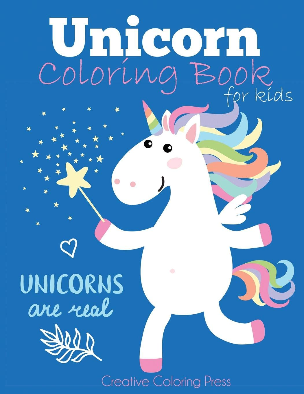 Unicorn coloring book for kids magical unicorn coloring book for girls boys and