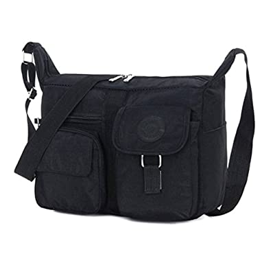09bcec4274 Hynbase Women s Lightweight Nylon Cross Boby Bag Casual Cute Mini Shoulder  Bag Black  Amazon.ca  Shoes   Handbags