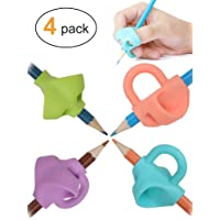 Pencil Grips, Jarlink Pencil Grips for Kids Handwriting Aid Grip Trainer Posture Correction Finger Grip for Kids, Adults, Arthritis Designed for Righties or Lefties (4PCS)