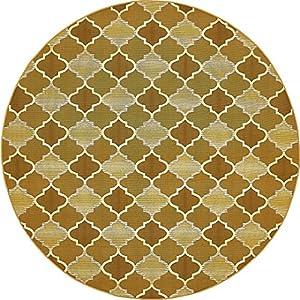 Amazon.com: A2Z Rug Indoor/Outdoor Gold 8' x 8' - Feet ... - photo#42