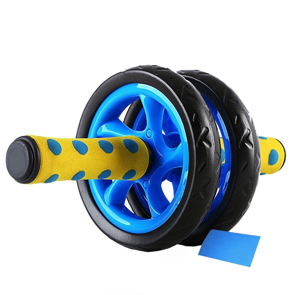Abdominal Roller Blau Zwei Stabile Rad Mute Design Gym Home Muskeltraining Fitness