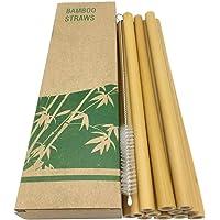LWAN3 12 pajitas de bambú para beber (8