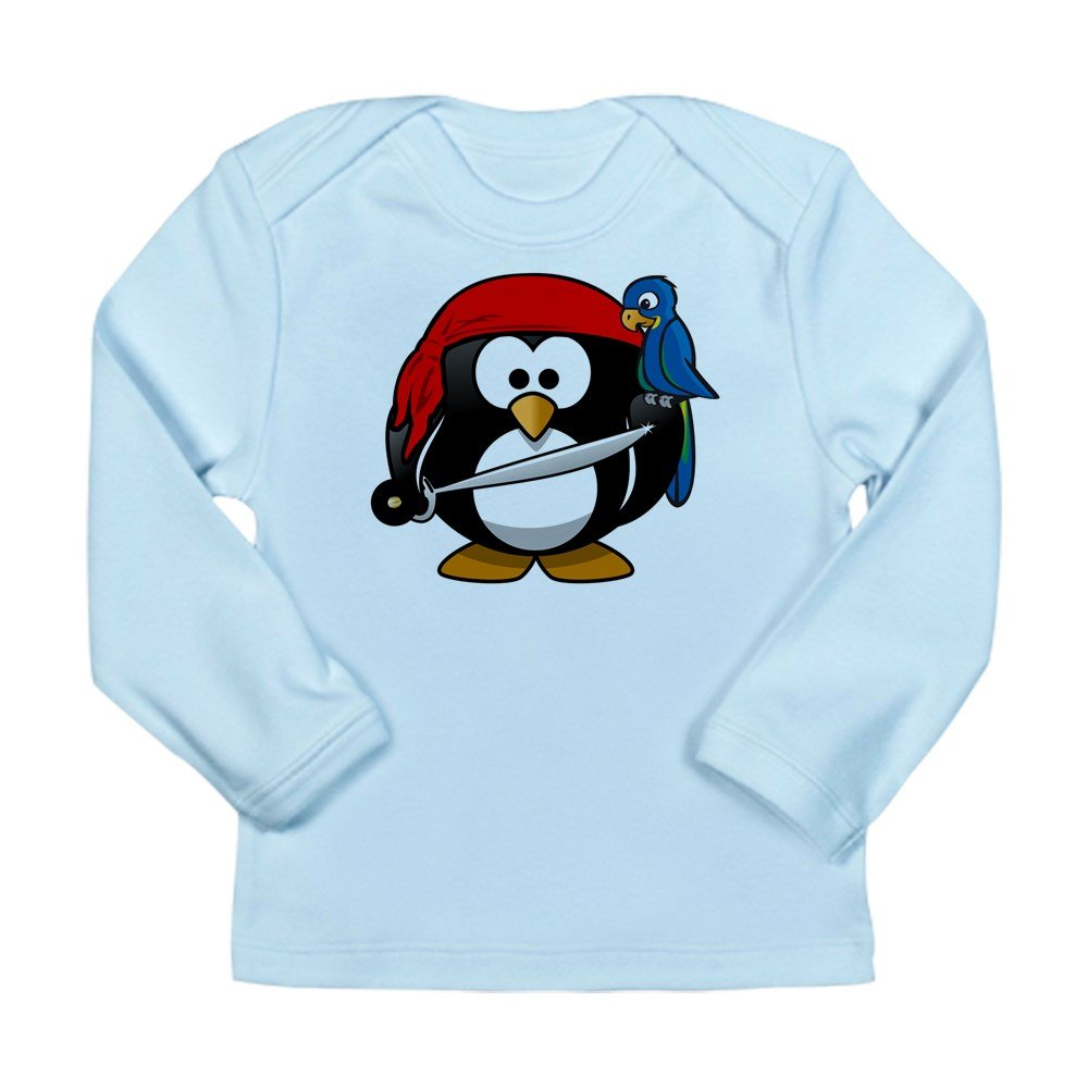 Sky Blue Truly Teague Long Sleeve Infant T-Shirt Little Round Penguin 0 To 3 Months Pirate /& Parrot