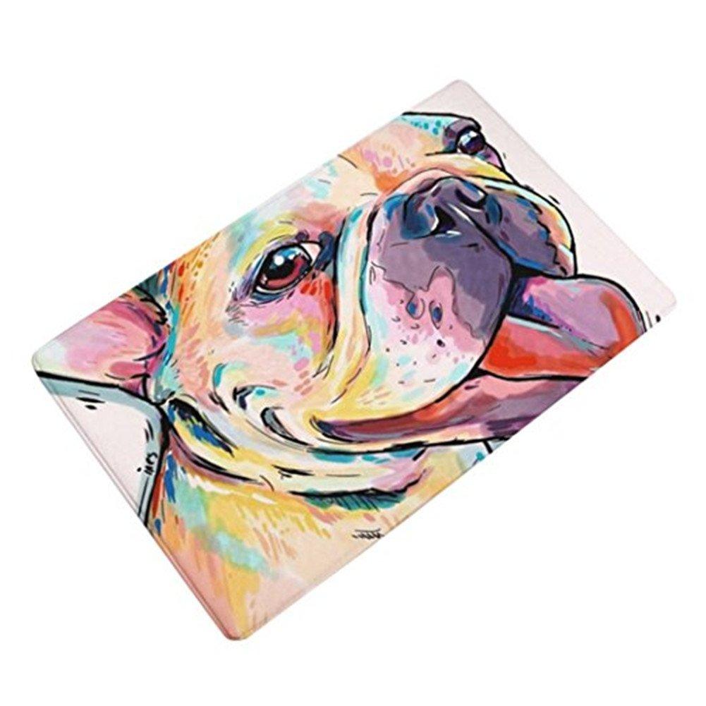 Morbuy HochflorFlanell Samt Shaggy Schmutzfangmatte Teppich Anti-Rutsch-Bequeme Badematte Badezimmer-Teppich saugf/ähiger weicher Duschteppich-Indoor//Outdoor geeignet-40x60cm