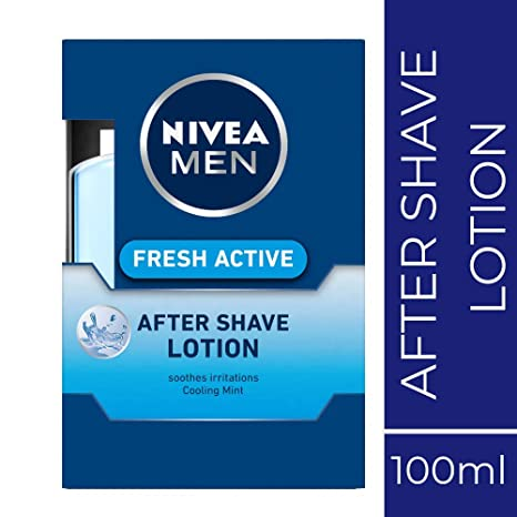 NIVEA MEN After Shave Lotion, 100ml, with cooling mint soothes irritation