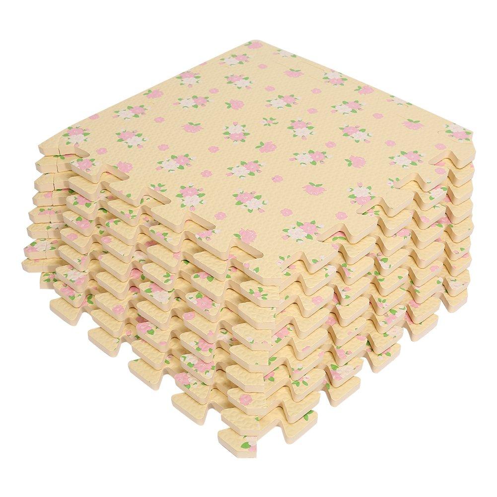 9 St/ück Geruchlos Bukolische Baby Shaum Teppiche EVA Spielmatte Spielteppich Schaumstoffmatte 30x30CM Gr/ün