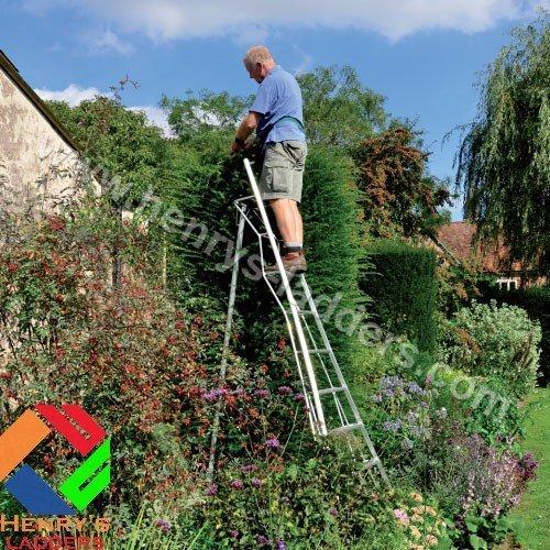 Henrys Tripod Garden Ladders With Built In Platform By