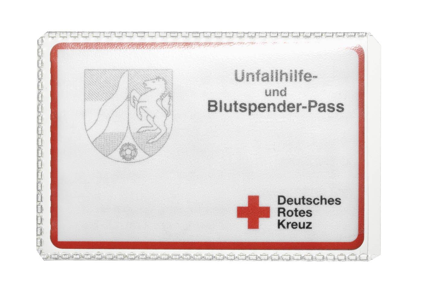 Durable 213619 Schutz Und Ausweishülle Für 54 X 86 Mm Große Dokumente Visitenkartengröße 10 Stück Transparent