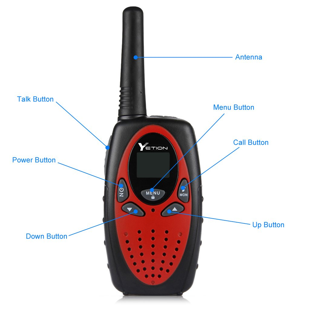 YETION Walkie Talkies Two Way Radios Long Range Distance 22 Channel Clear Sound (Red x4) by YETION (Image #4)