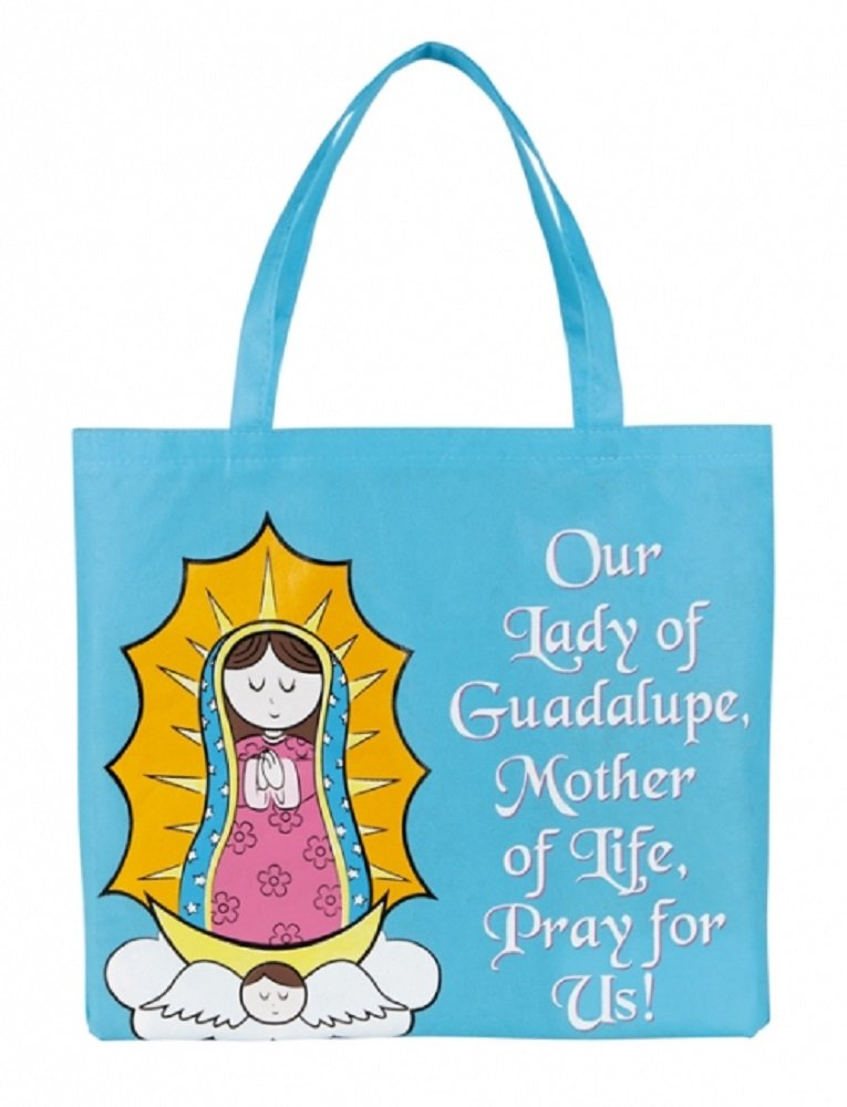 Recycled Nylon, Our Lady of Guadalupe Tote Bag, 4 1/2 x 13'' H, 12pk.