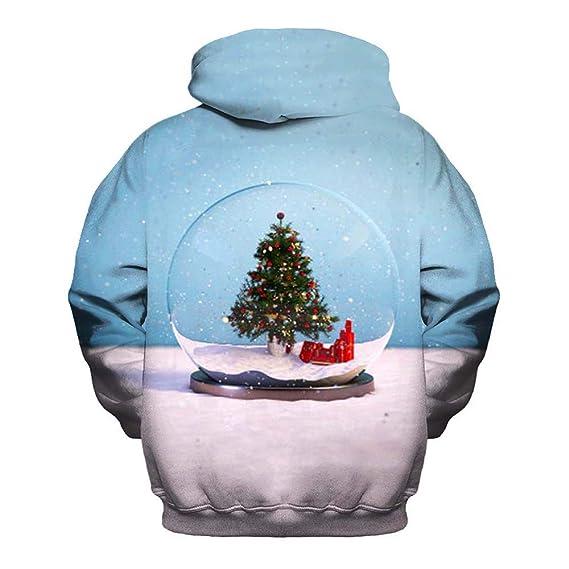 Amphia Sudadera con Capucha De Moda para Unisex, Sudadera con Capucha Unisex Colorida HD 3D Impresa Manga Larga Navidad con Capucha Estampada Camisetas: ...