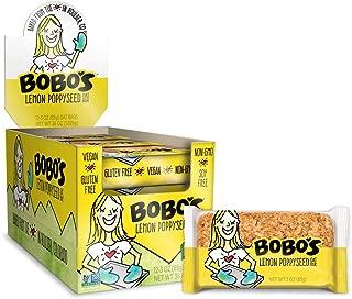 product image for Bobo's Oat Bars All Natural, Gluten Free, Lemon Poppyseed, 3 oz, 12 Piece
