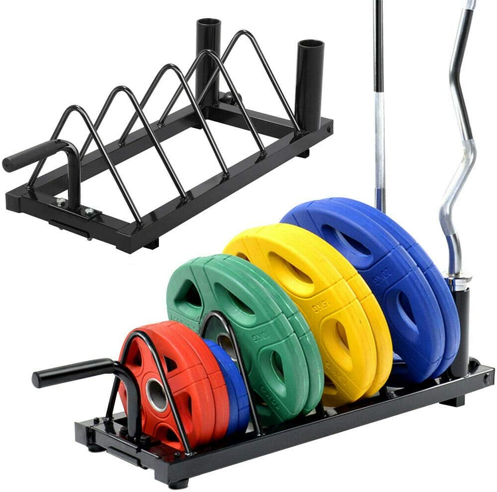 MB-THISTAR Horizontal Weight Barbell Rack Olympic Bumper Bar Holder Weight Plate Storage