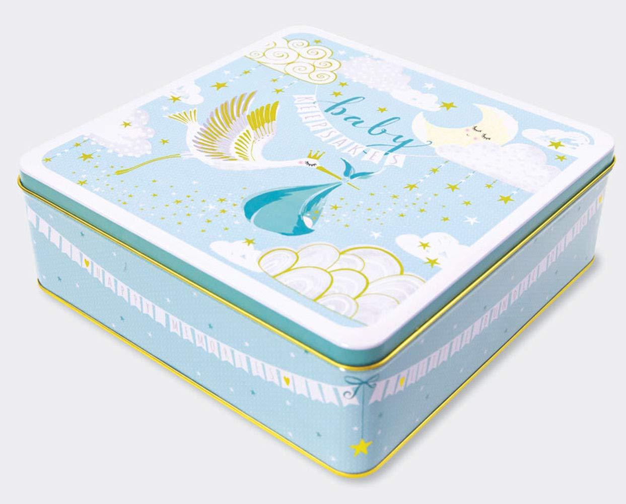 Large Keepsake Tin Rachel Ellen Designs Baby Boy Keepsakes