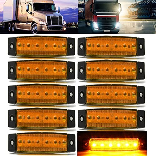 Marker light Rear side marker light RV Marker light Red Cab Marker 10 pcs TMH/® 3.8 6 LED Red Side Led Marker Trailer marker lights Led marker lights for trucks