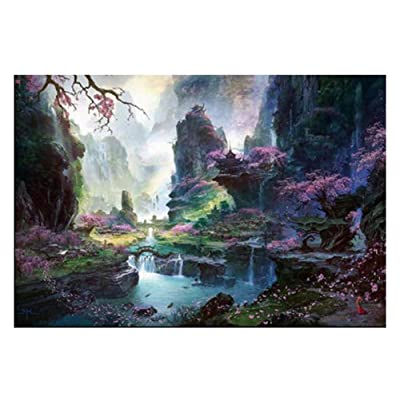Beautiful Scenery Puzzle Creative Puzzle for Children Adults 1000 Pieces, A3: Toys & Games