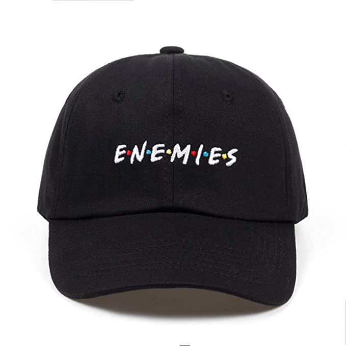 203e463ff72 Xivikow 2019 New Frenemies Enemies Baseball Cap Curved Bill Dad Hat 100%  Cotton Fashion Hip-hop Cap Hats Wholesale Black at Amazon Women s Clothing  store